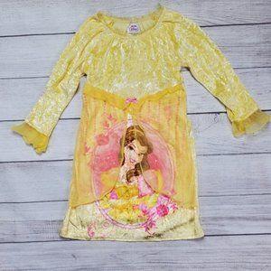 3/$25 Disney Princess PJs Belle Floral Lace Sz6